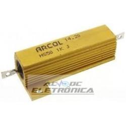 Resistor de fio chassi 1K 50W 1% - HS50 1K