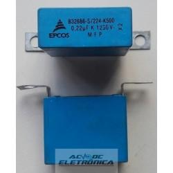 Capacitor polipropileno 220nF 1250v