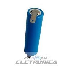Bateria recarregável 3,7V 750mAh Lithium ion c/terminal - 14mmx50mm