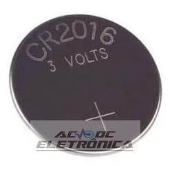 Bateria botão 3V CR2016 70mAh lithium