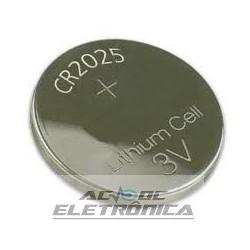 Bateria botão 3V CR2025 140mAh lithium