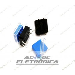 Chave tactil 12x12x7,3mm c/capa azul