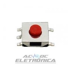 Chave tactil 6x6x3,1mm 5p 180G SMD
