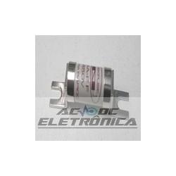 Fusivel ceramico 63A 660v 14x51mm ultra rapido c/terminal