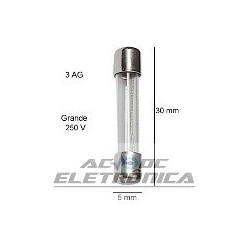 Fusivel vidro 10A 6x30mm (3AG)