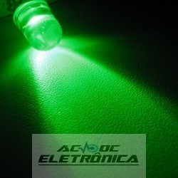 Led 8mm verde alto brilho 8000mcd