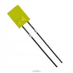 Led 5mm amarelo difuso retangular 800mcd