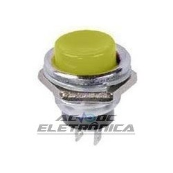 Chave push button DS-212 amarelo - Sem trava