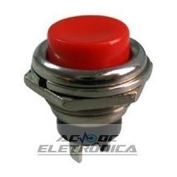 Chave push button DS-212 vermelho - Sem trava