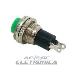 Chave push button DS-316 verde NA