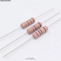 Resistor 100R 5w 5% - Marrom preto marrom dourado