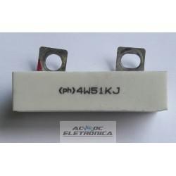 Resistor 51K 4W(ph) 5% - porcelana