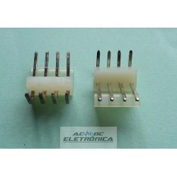 Conector KK 4 vias macho 3,96mm 90º 396104WR Excon