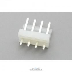 Conector KK 4 vias macho 3,96mm 180º 396104WV Excon