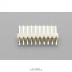 Conector KK 10 vias 180º macho 2,50mm PCI - 5045-10