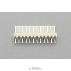 Conector KK 12 vias 180º macho 2,50mm PCI - 5045-12