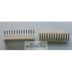 Conector KK 13 vias 90º macho 2,50mm PCI - 5046-13