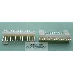 Conector KK 14 vias 180º macho 2,50mm PCI - 5045-14