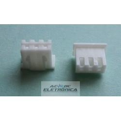 Conector 03 vias femea 2,5mm - 250103HA
