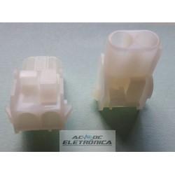 Conector 02 vias femea hylok 6,35mm 660502HP - Excon