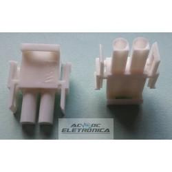 Conector 02 vias macho hylok 6,35mm 660502HM - Excon
