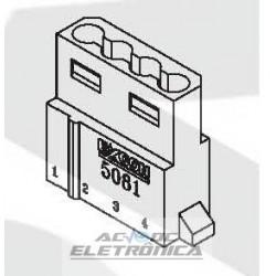 Conector 4 vias macho fonte cpu 508104HA