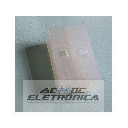 Conector 02 vias femea 508902HA 5,0mm
