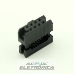 Conector 08 vias N latch IDC