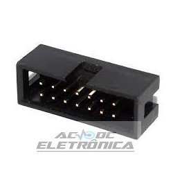 Conector 14 vias H latch IDC 180º s/ejetor