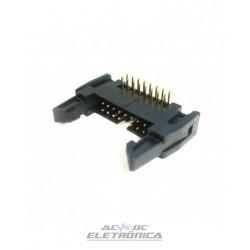 Conector 16 vias H latch IDC 90º c/ejetor