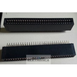 Conector 60 vias edge PCI 2x30 180º - passo 2.54mm