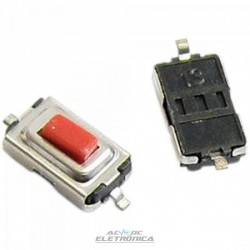 Chave tactil 3x6x2,5mm 2 pinos SMD