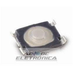 Chave tactil 3x2.6x0.65mm micro SMD Ultra-LW KMT071 2.3N HF