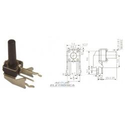 Chave tactil KFC-A06-6x6x13mm W2 4T 90º