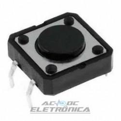 Chave tactil KFC-A06-12x12x4.3mm 4T 180º