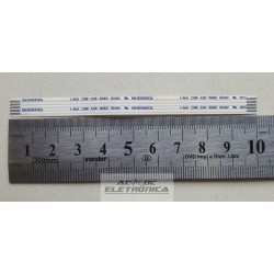 Cabo flat 05 vias 10cm passo 1mm