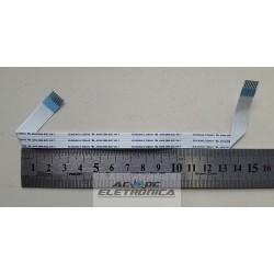 Cabo flat 07 vias 14cm passo 0.2mm dobrado