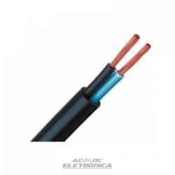 Cabo PP flexivel 2x0,50mm 70º 500v preto