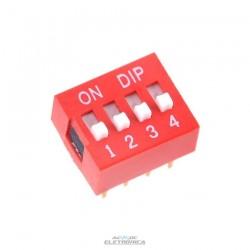 Chave dip switch 04 vias 180º