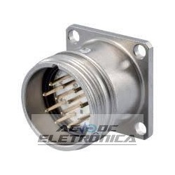 Conector painel macho 17 pinos sinal M23 Hummel