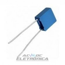 Capacitor poliester 100nf x 63v - 5mm