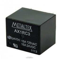 Relé 24Vcc 15A 1 contato reversivel - AX1RC3 Metaltex