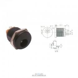 Jack J4 DC 2,1mm painel rosca