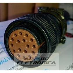 Conector circular Mil 17 pinos femea plug MS3106 completo