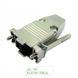 Capa conector DB9 metalico Kit longo