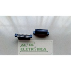 Conector femea 30 vias 15x15 passo 1,27mm SMD/SMT 147378-3 AMP
