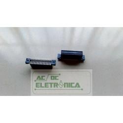 Conector femea 30 vias 15x15 SMD/SMT 147378-3 AMP