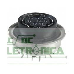 Conector mini Din 8 vias femea PN750338-1 Tyco