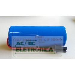 Bateria recarregável 3,2V 3000mAh Li Fe PO4 c/fio - 26mmx65mm