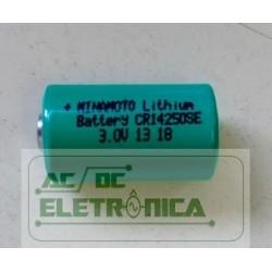 Bateria 3v 1/2AA 750mAh lithium CR14250SE - 14x25mm